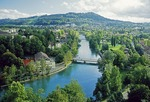 River Aare winding through Swiss capital of Bern