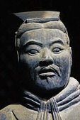 Terra cotta warrior from the Qin Shihuangdi Museum in Xi'an