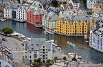 Port city of Alesund, Norway