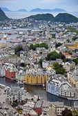 Overview of Alesund, Norway, from Mount Aksla