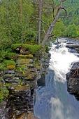 Gudbrandsjuvet Gorge between Valldalen and Trollstigen on popular Norway tourist route