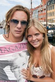 Young Norwegian couple from Oslo in Nyhavn in Copenhagen