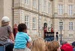 Changing of the Royal Guard at Amalienborg Palace in Copenhagen