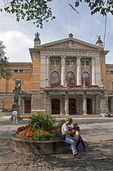 National Theater in Oslo with statue of Henrik Ibsen
