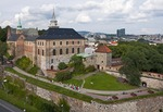 Akershus Fortress overlooking Oslo harbor