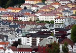 Bergen residential neighborhood overlooking harbor