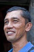 Middle aged man in West Java, Indonesia