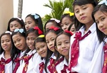 Christian school students in Sa'dan Toraja, South Sulawesi, Indonesia