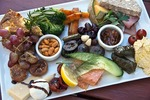 Gourmet lunch platter at Gibbston Valley Cheesery (and winery) near Queenstown, New Zealand.
