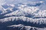 Snow-capped Southern Alps on South Island of New Zealand