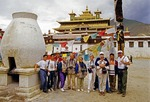 Tibet tourists and tour guides at Samye Monastery