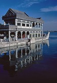 Marble Boat at Beijing's Summer Palace reflecting in Kunming Lake