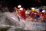 White water rafting in New River Gorge in West Virginia.