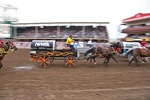 Chuckwagon Racing at 100th Anniversary Calgary Stampede 2012 annual rodeo.