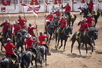 RCMP Musical Ride, 32-member daily equestrian performance, at the Calgary Stampede 2012.