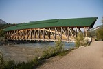 Kickinghorse Pedestrian Bridge over Kicking Horse River in Golden, BC