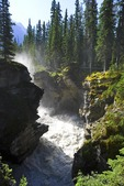 Gorge below Athabasca Falls in Jasper National Park, Alberta