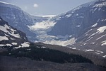Receding Athabasca Glacier in summer 2012, Jasper National Park.
