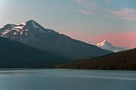 Medicine Lake in Jasper National Park, Alberta.