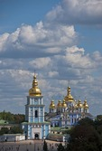 Golden-domed St. Michael's Cathedral in Kiev
