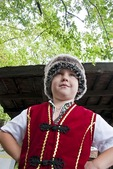 Cossack boy at Cossack Horse Show on Khortitsa Island near Zaporozhye, Ukraine.