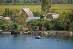 Summer cottages on lower Dnieper River near its delta.