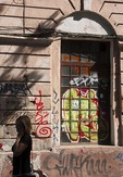 Grafitti on walls in Odessa is plentiful.