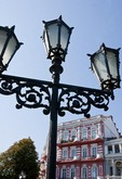 Street lamp in Odessa's Ekaterina (Empress Catherine the Great) Square