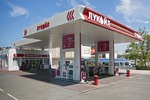 Ukraine petrol station and minimart in Sevastopol