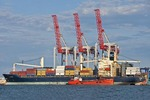 Port of Odessa cranes for loading container ships