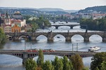5 of the 18 bridges over the Vltava River in Prague