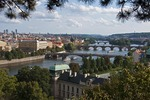 Overview of the Vltava River in Prague
