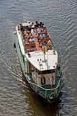Prague boat tour on Vltava River