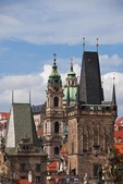 Prague's Lesser Town (Mala Strana) Bridge Tower and St Nicholas Church