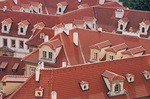 Red tile rooftops of Prague's Lesser Town (Mala Strana)