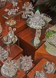World Famous Czech crystal in Old Town Prague shop window