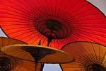 Umbrellas in Bagan, Myanmar (Burma)