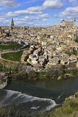 Toledo along Tagus River, Spain