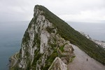 Top of the rock in Gibraltar, home of Barbary monkeys (Macaca sylvanus).
