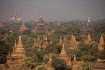 Buddhist pagodas and temples fill the Bagan Plain.
