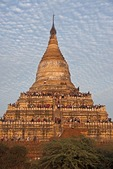 Tourists waiting to view sunset line the Shwesandaw Pagoda on the Bagan Plain in Myanmar.