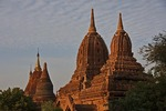 Old Bagan pagoda and temple architecture.
