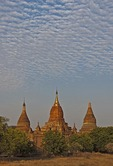 Old Bagan pagodas in Myanmar.