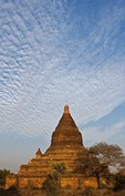 Buddhist stupa in Old Bagan in Myanmar.