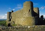 Harlech Castle in Gwynned, Wales, facing Irish Sea.