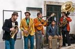 Street musicians in Sintra, Portugal.