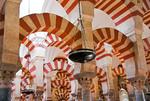 Mezquita Great Mosque interior archways in Cordoba, Spain.