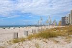 Alabama Gulf Coast's Orange Beach white sand and condos.