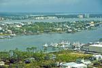 Alabama Gulf Coast view from Orange Beach of bays and marinas around Bear Point.