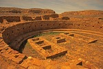 Chaco Culture National Historical Park, buildings of ancestral Pueblo people, in New Mexico.